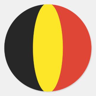 Autocollant de drapeau de la Belgique Fisheye