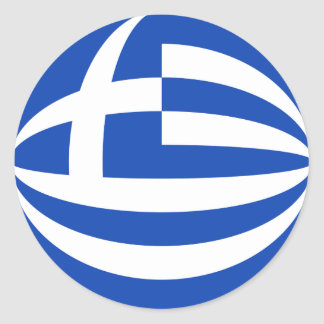 Autocollant de drapeau de la Grèce Fisheye
