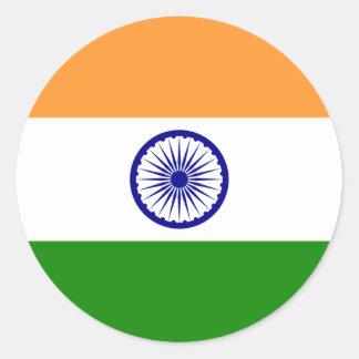 Autocollant de drapeau de l'Inde
