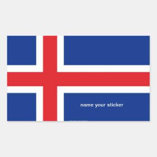 Autocollant de drapeau de l'Islande