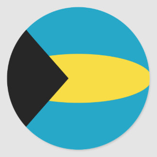 Autocollant de drapeau des Bahamas Fisheye