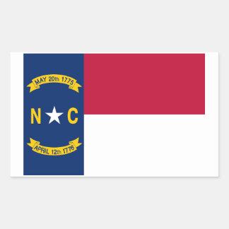 Autocollant de drapeau d'état de la Caroline du