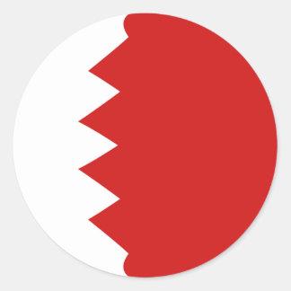 Autocollant de drapeau du Bahrain Fisheye