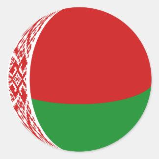 Autocollant de drapeau du Belarus Fisheye