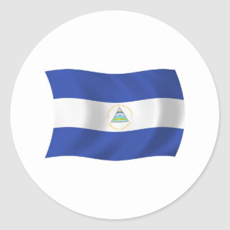 Autocollant de drapeau du Nicaragua