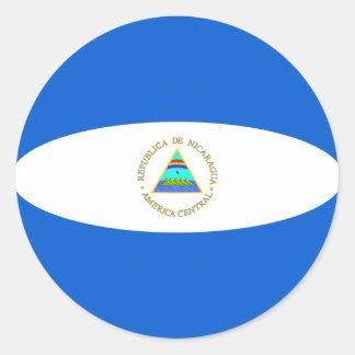 Autocollant de drapeau du Nicaragua Fisheye