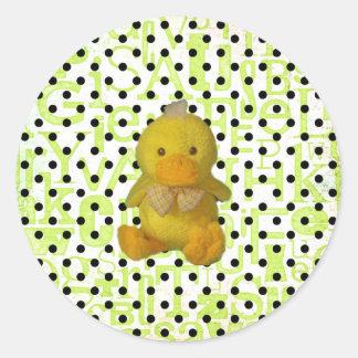 Autocollant de Duckie de bébé