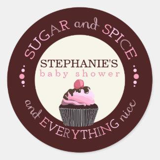 Autocollant de faveur de baby shower de petit