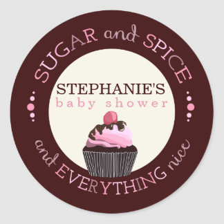 Autocollant de faveur de baby shower de petit gâte