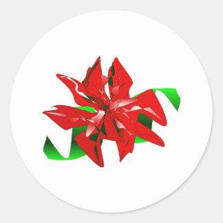 Autocollant de fleur de Noël personnalisable