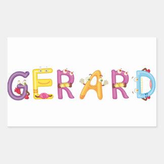 Autocollant de Gerard