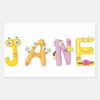 Autocollant de Jane