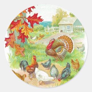 Autocollant de jour de thanksgiving