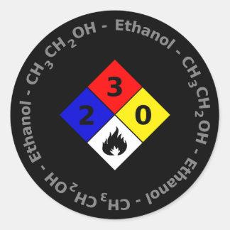 Autocollant de l'éthanol MSDS
