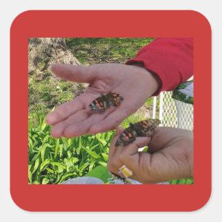 Autocollant de libération de papillon