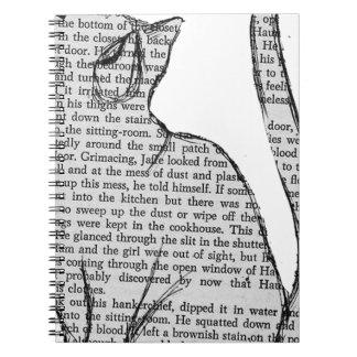 autocollant de livre de lecture de chat