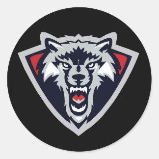 Autocollant de loup