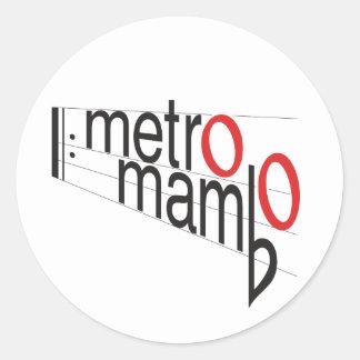 "Autocollant ""de mambo de métro"""