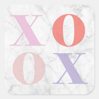 Autocollant de marbre de XOXO