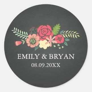 Autocollant de mariage de tableau de bouquet