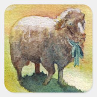 Autocollant de moutons