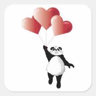 Autocollant de panda et de ballons