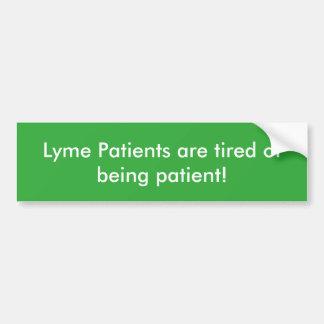 Autocollant de patients de Lyme
