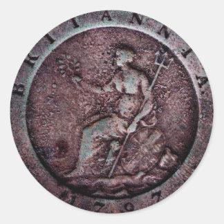 """Autocollant de penny de """"roue"""" des 1797 Anglais"""