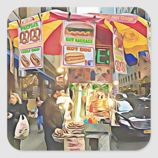 Autocollant de photo de support de hot-dog de New