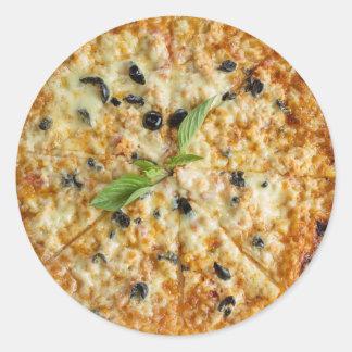 Autocollant de pizza de fromage et d'olive