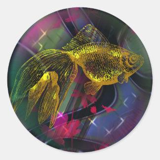 Autocollant de poissons d'or, 3 pouces (feuille de