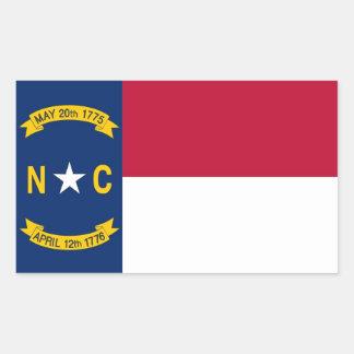 Autocollant de rectangle avec le drapeau de la