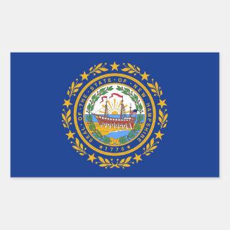 Autocollant de rectangle avec le drapeau du New