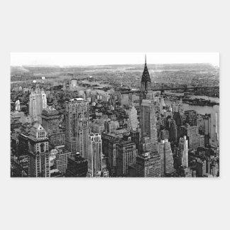 Autocollant de rectangle de New York City