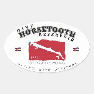 Autocollant de réservoir de Horsetooth de piqué