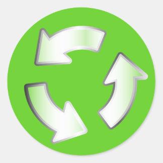 Autocollant de réutilisation vert de cercle de