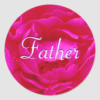 Autocollant de rose de rose de père