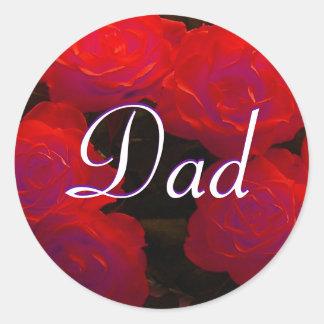 Autocollant de roses rouges de papa