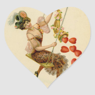 Autocollant de Saint-Valentin de bibliothèque de