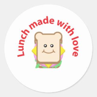 Autocollant de sandwich à déjeuner