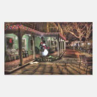 Autocollant de scène de Noël de la nuit du bel