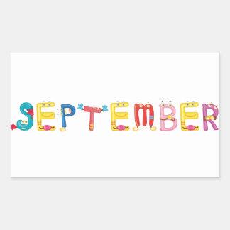 Autocollant de septembre