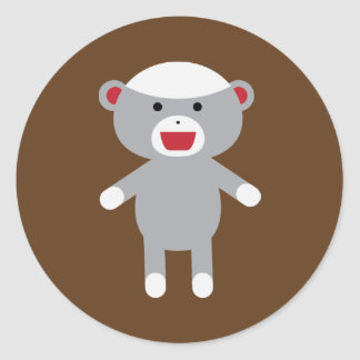 Autocollant de singe de chaussette