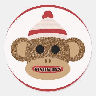 Autocollant de singe de chaussette de GISHWHES
