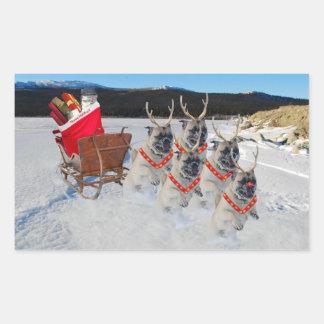 Autocollant de Sleigh de carlin de Noël