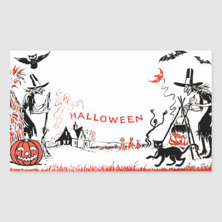Autocollant de sorcières de Halloween
