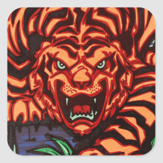 Autocollant de tigre