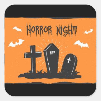 Autocollant de tombes de Halloween