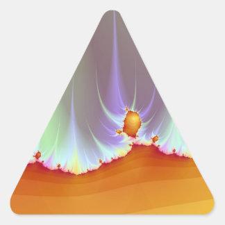 Autocollant de triangle de paysage de fractale