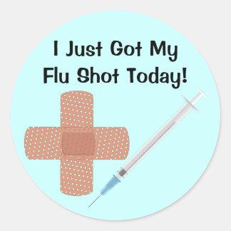 Autocollant de vaccin de grippe